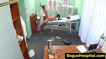 color climax nurse Super hot blond in black stockings and heels