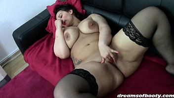 1of2 anal stockings in pretty brunette black Bbw group ses
