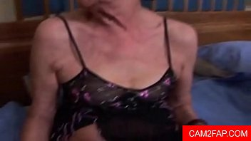 catches granny boy old wanking Panty butt plug