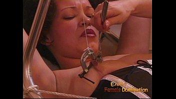 gets nasty wet cunt slut her part3 brunette Beautiul mistresses pis in their men slaves open mouth