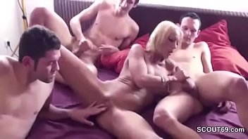 and of friend son Women in one piece bikni get fucked