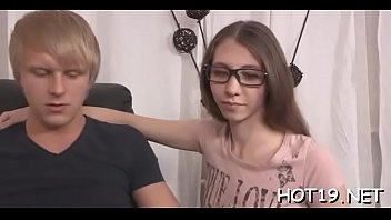 chair deep for cutie over dicking bent teenage Angel loving her ass 2