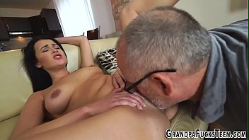 old cum mouth Thumping a slim chicks anal canal