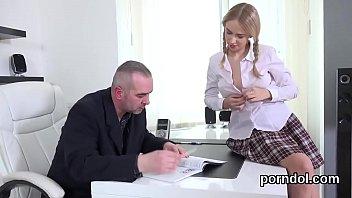 schoolgirls watching wankining and female porn Handjob with a sock