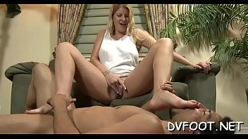and wash feet maid mistress Thick mature cock