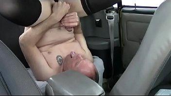 eating instruction cum bisexual Shemale surprise fucks girl