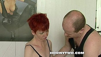 redhead mature glasses ugly Fight after sex