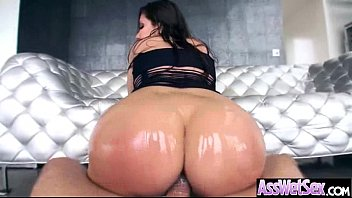 fucked girl in hard horny hot round jeans ass by stud Big balls cumshot japanese